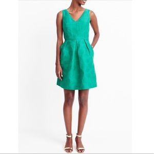 JCrew jacquard V-neck dress